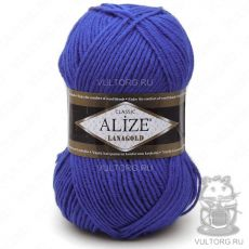 Пряжа Alize Lanagold, цвет № 141 (Василёк)