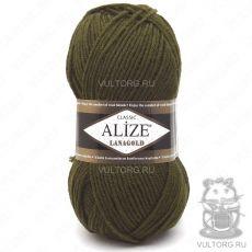 Пряжа Lanagold Ализе, цвет № 214 (Оливковый зелёный)