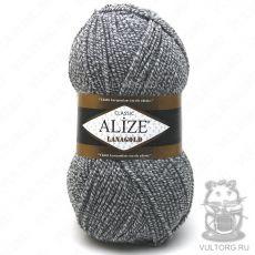 Пряжа Alize Lanagold, цвет № 651 (Серый меланж)