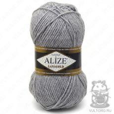 Пряжа Alize Lanagold, цвет № 21 (Светло-серый меланж)
