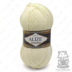 Пряжа Alize Lanagold, цвет № 62 (Светло-молочный)