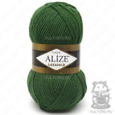 Пряжа Alize Lanagold, цвет № 118 (Темно-зелёный)