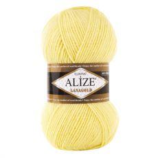 Пряжа Alize Lanagold, цвет № 187 (Светлый лимон)