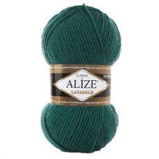 Пряжа Alize Lanagold, цвет № 507 (Античный зеленый)