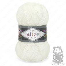 Пряжа Alize Mohair Classic New, цвет № 55 (Белый)
