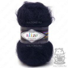 Пряжа Mohair Classic New Ализе, цвет № 60 (Чёрный)