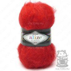 Пряжа Mohair Classic New Ализе, цвет № 56 (Красный)