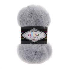 Пряжа Mohair Classic New Ализе, цвет № 21 (Серый)