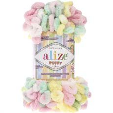 Пряжа Puffy Color Ализе, цвет № 5862