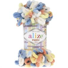 Пряжа Puffy Color Ализе, цвет № 5866