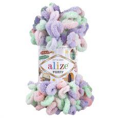 Пряжа Puffy Color Ализе, цвет № 5938