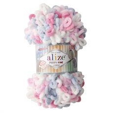 Пряжа Puffy Fine Color Ализе, цвет № 5945