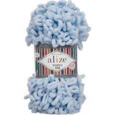 Пряжа Puffy Fine Ализе, цвет № 218 (Детский голубой)