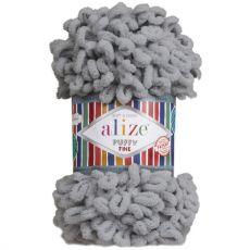 Пряжа Puffy Fine Ализе, цвет № 343 (Угольный серый)