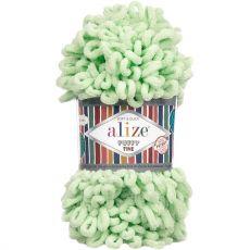 Пряжа Puffy Fine Ализе, цвет № 516 (Пастельно-зеленый)