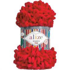 Пряжа Puffy Fine Ализе, цвет № 56 (Красный)