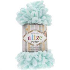 Пряжа Puffy Ализе, цвет № 15 (Водяная зелень)
