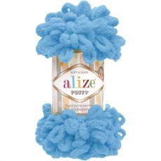 Пряжа Puffy Ализе, цвет № 16 (Голубой сочи)
