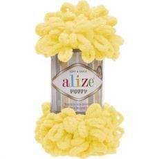 Пряжа Puffy Ализе, цвет № 216 (Жёлтый)