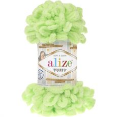 Пряжа Puffy Ализе, цвет № 41 (Салатовый)