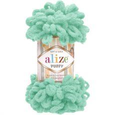 Пряжа Puffy Ализе, цвет № 490 (Светло-бирюзовый)