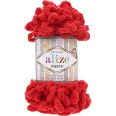 Пряжа Puffy Ализе, цвет № 56 (Красный)