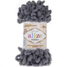 Пряжа Puffy Ализе, цвет № 87 (Угольно-серый)