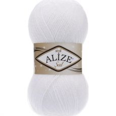 Пряжа Sal Simli Ализе, цвет № 55 (Белый)