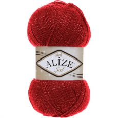Пряжа Sal Simli Ализе, цвет № 56 (Красный)