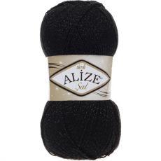 Пряжа Alize Sal Simli, цвет № 60 (Черный)