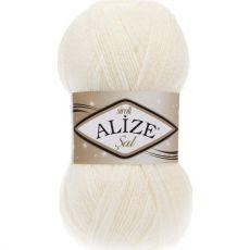 Пряжа Alize Sal Simli, цвет № 62 (Молочный)