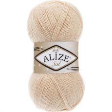 Пряжа Alize Sal Simli, цвет № 67 (Молочно-бежевый)