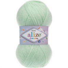 Пряжа Sekerim Bebe Ализе, цвет № 188 (Бледно зеленый)