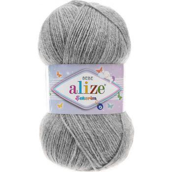 Пряжа Sekerim Bebe Ализе, цвет № 21 (Серый меланж)