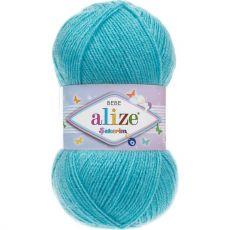 Пряжа Alize Sekerim Bebe, цвет № 287 (Бирюзовый)