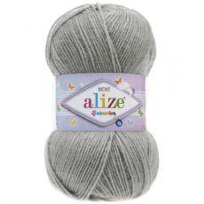 Пряжа Alize Sekerim Bebe, цвет № 344 (Серебряно-серый)