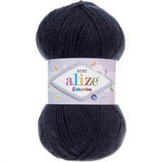 Пряжа Alize Sekerim Bebe, цвет № 58 (Темно-синий)