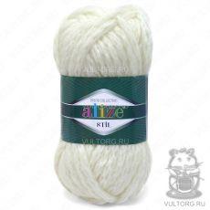 Пряжа STIL Ализе, цвет № 55 (Белый)