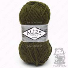Пряжа Alize Superlana Maxi, цвет № 214 (Оливковый зелёный)