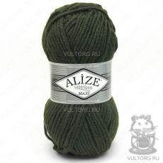 Пряжа Alize Superlana Maxi, цвет № 241 (Темно-зелёный)