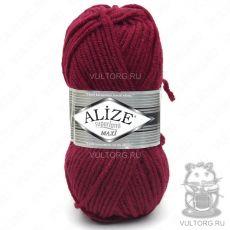 Пряжа Alize Superlana Maxi, цвет № 390 (Темно-красный)