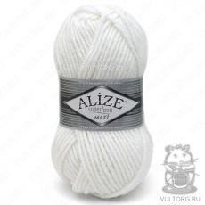 Пряжа Alize Superlana Maxi, цвет № 55 (Белый)