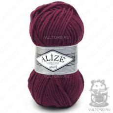 Пряжа Alize Superlana Maxi, цвет № 57 (Бордовый)