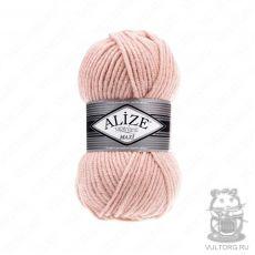 Пряжа Alize Superlana Maxi, цвет № 523 (Кристально-розовый)