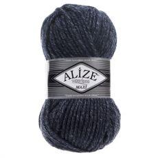 Пряжа Alize Superlana Maxi, цвет № 805 (Темно-синий жаспе)