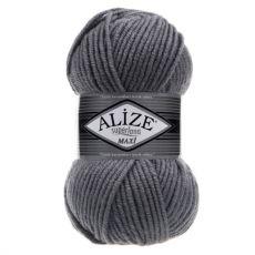 Пряжа Alize Superlana Maxi, цвет № 87 (Угольно-серый)
