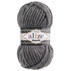 Пряжа Superlana Megafil Ализе, цвет № 182 (Средне-серый)