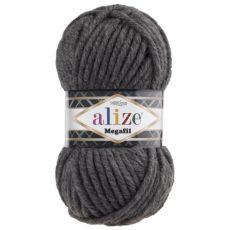 Пряжа Alize Superlana Megafil, цвет № 196 (Темно-серый меланж)