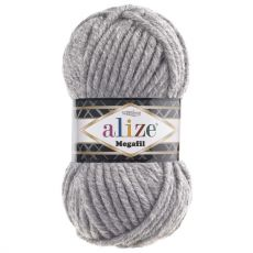 Пряжа Superlana Megafil Ализе, цвет № 21 (Серый меланж)