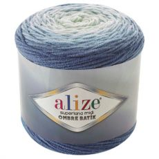 Пряжа Alize Superlana Midi Ombre Batik, цвет № 7269